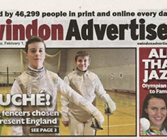 Swindon Advertiser England Fencing Success